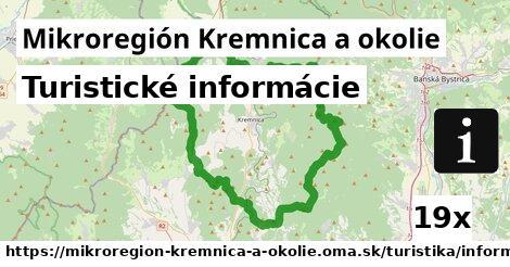 turistické informácie v Mikroregión Kremnica a okolie