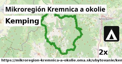 kemping v Mikroregión Kremnica a okolie
