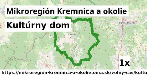 kultúrny dom v Mikroregión Kremnica a okolie