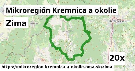 zima v Mikroregión Kremnica a okolie