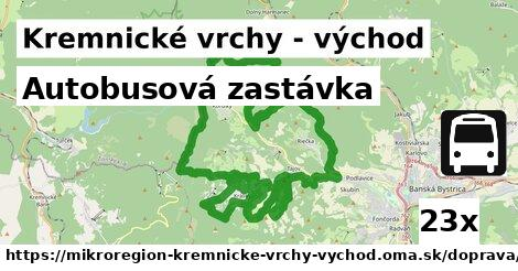 ilustračný obrázok k Autobusová zastávka, Kremnické vrchy - východ