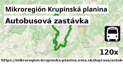 autobusová zastávka v Mikroregión Krupinská planina