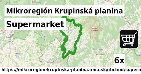 supermarket v Mikroregión Krupinská planina