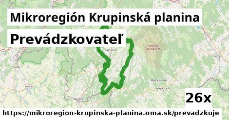 prevádzkovateľ v Mikroregión Krupinská planina