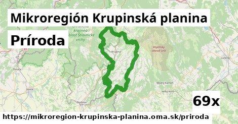 príroda v Mikroregión Krupinská planina