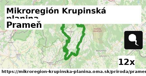 prameň v Mikroregión Krupinská planina