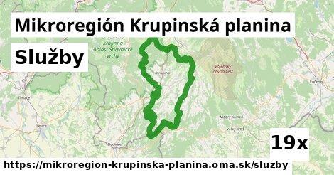služby v Mikroregión Krupinská planina