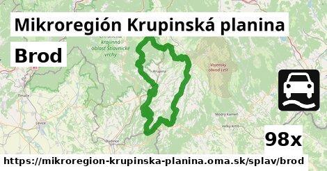 brod v Mikroregión Krupinská planina