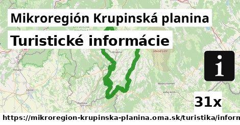 ilustračný obrázok k Turistické informácie, Mikroregión Krupinská planina