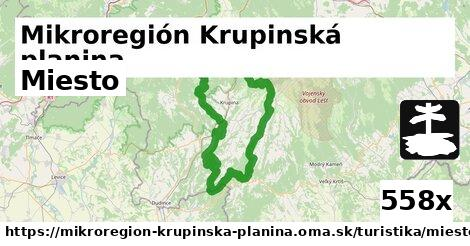 miesto v Mikroregión Krupinská planina