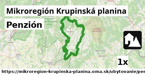 penzión v Mikroregión Krupinská planina