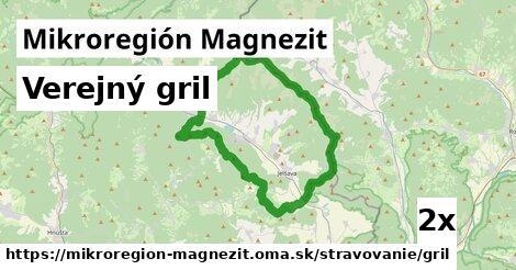 verejný gril v Mikroregión Magnezit