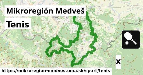 ilustračný obrázok k Tenis, Mikroregión Medveš