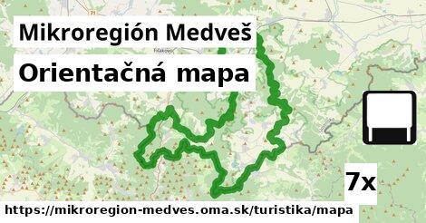 ilustračný obrázok k Orientačná mapa, Mikroregión Medveš