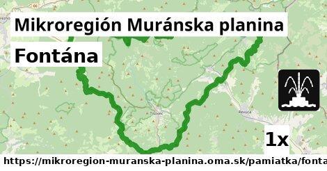 ilustračný obrázok k Fontána, Mikroregión Muránska planina