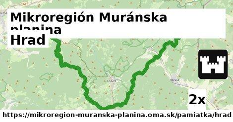 ilustračný obrázok k Hrad, Mikroregión Muránska planina