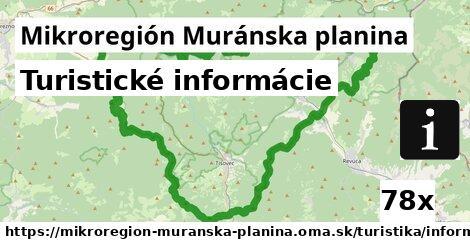 ilustračný obrázok k Turistické informácie, Mikroregión Muránska planina
