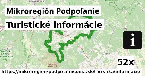 turistické informácie v Mikroregión Podpoľanie