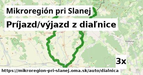 ilustračný obrázok k Príjazd/výjazd z diaľnice, Mikroregión pri Slanej