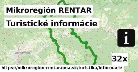 ilustračný obrázok k Turistické informácie, Mikroregión RENTAR