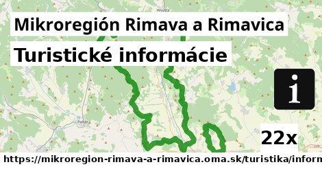 turistické informácie v Mikroregión Rimava a Rimavica