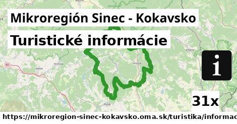ilustračný obrázok k Turistické informácie, Mikroregión Sinec - Kokavsko