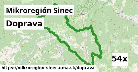 doprava v Mikroregión Sinec