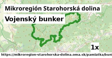 vojenský bunker v Mikroregión Starohorská dolina