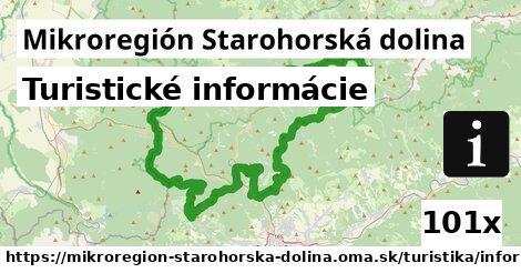 turistické informácie v Mikroregión Starohorská dolina
