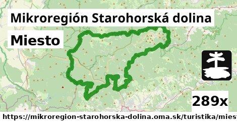 miesto v Mikroregión Starohorská dolina