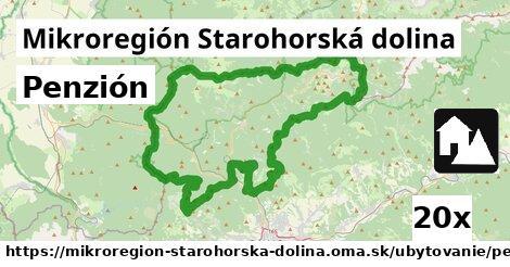 penzión v Mikroregión Starohorská dolina