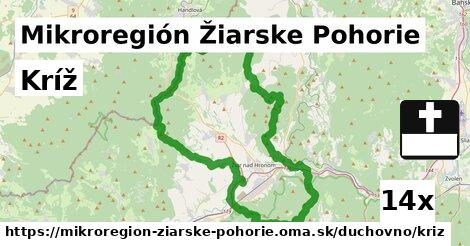 kríž v Mikroregión Žiarske Pohorie