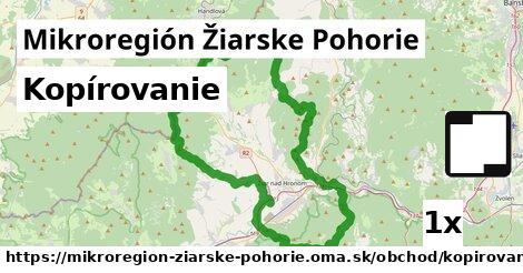 kopírovanie v Mikroregión Žiarske Pohorie