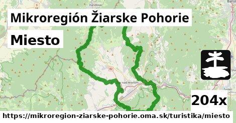miesto v Mikroregión Žiarske Pohorie