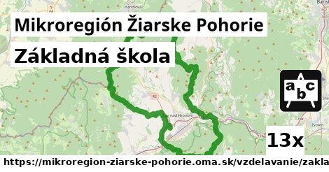 základná škola v Mikroregión Žiarske Pohorie