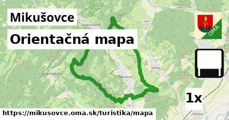 orientačná mapa v Mikušovce