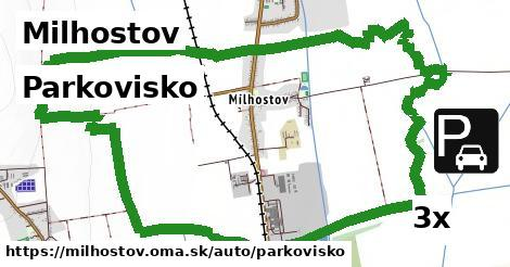 parkovisko v Milhostov