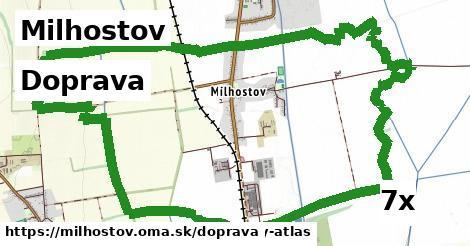 doprava v Milhostov
