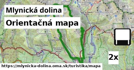 orientačná mapa v Mlynická dolina