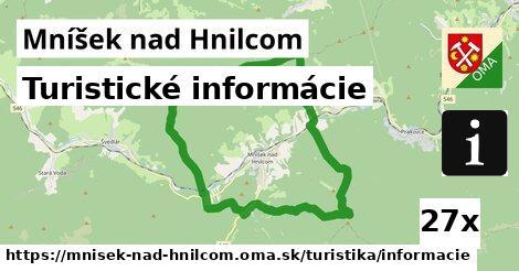 turistické informácie v Mníšek nad Hnilcom