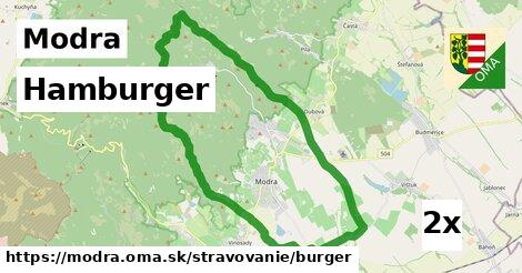 hamburger v Modra