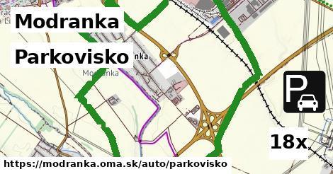 parkovisko v Modranka
