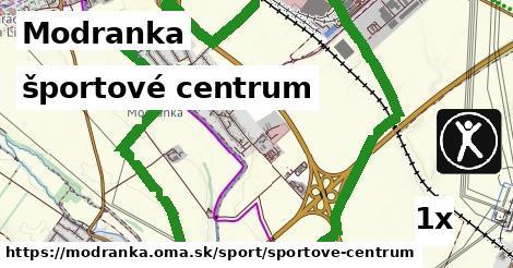 športové centrum v Modranka