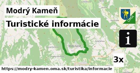 ilustračný obrázok k Turistické informácie, Modrý Kameň