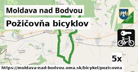 Požičovňa bicyklov, Moldava nad Bodvou