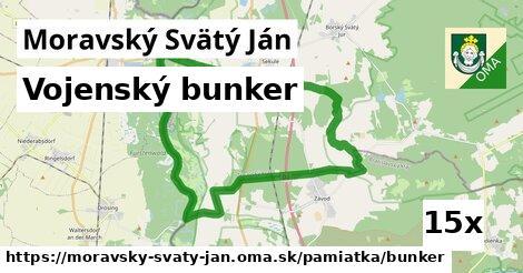 vojenský bunker v Moravský Svätý Ján