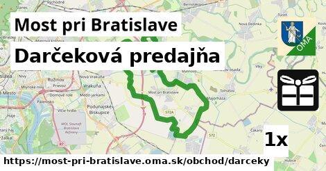 darčeková predajňa v Most pri Bratislave