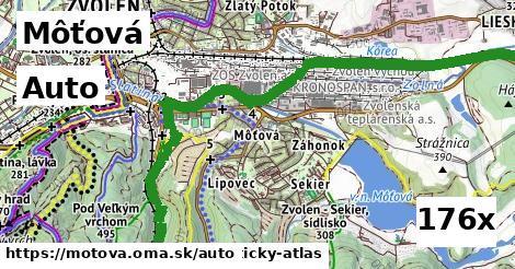 auto v Môťová