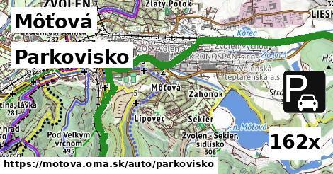 parkovisko v Môťová