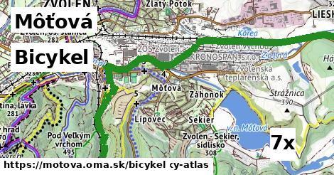 bicykel v Môťová